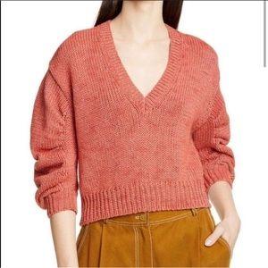 Nwt Ulla Johnson Tunis Salmon Pullover Sweater L